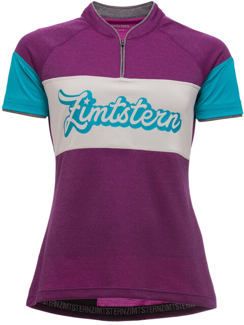 Zimtstern Benitaz Fietsshirt korte mouwen Dames roze/blauw